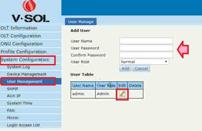 VSoL 8 PON GPON OLT configuration