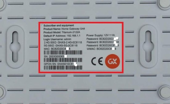 GX PLATINUM 4410 GPON WiFi ONT