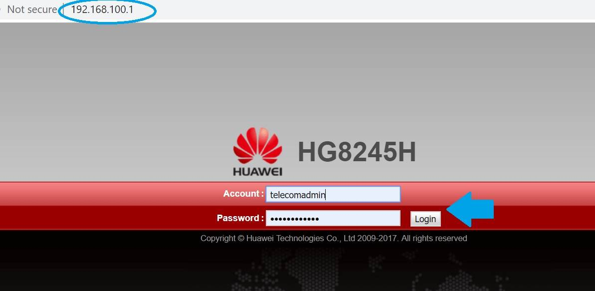 How to login huawei EchoLife ONT (HG8240, HG8240T