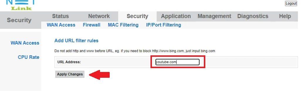 Syrotech How do I set up Website Filtering